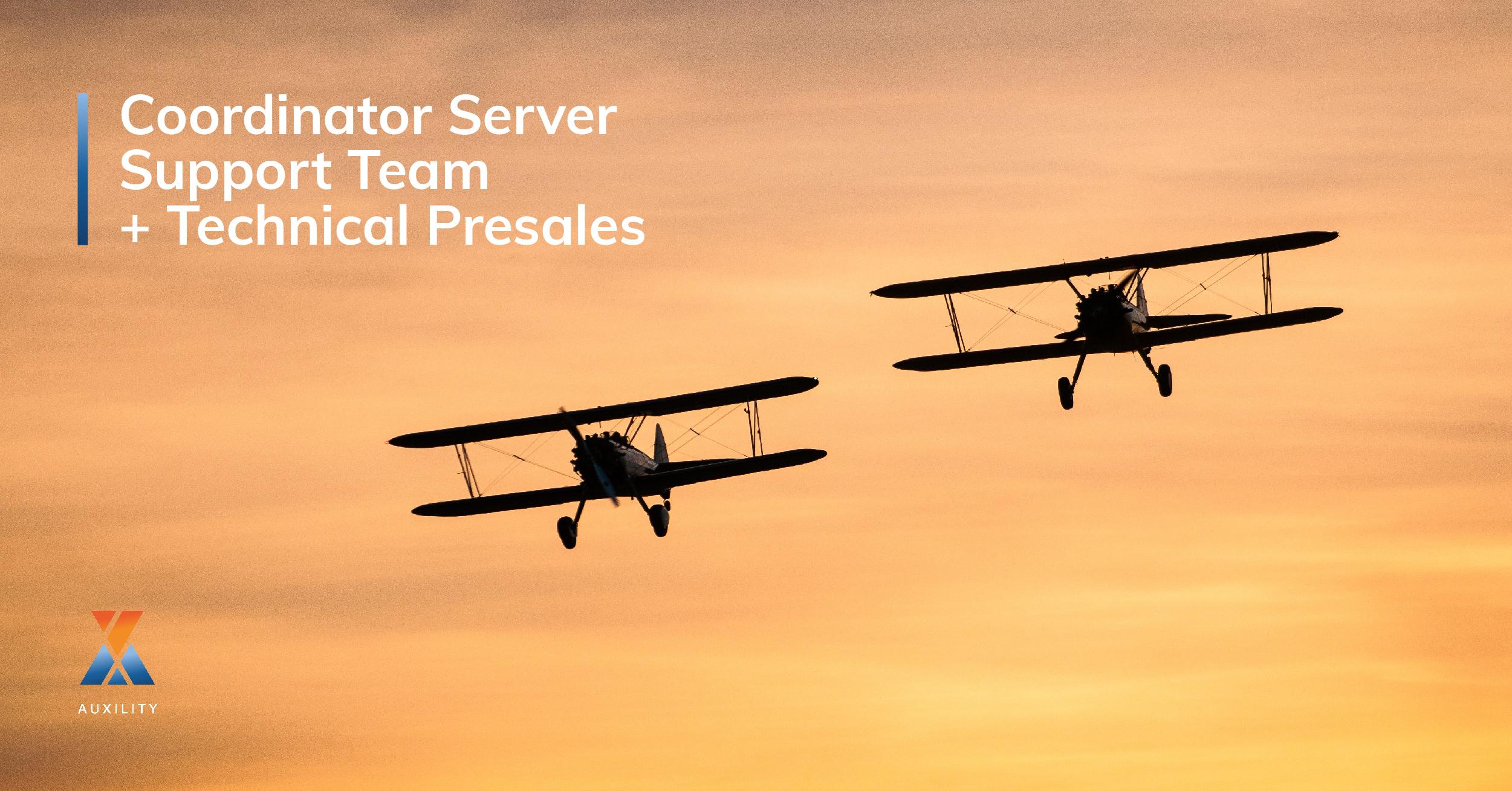 Coordinator Server Support Team + Technical Presales