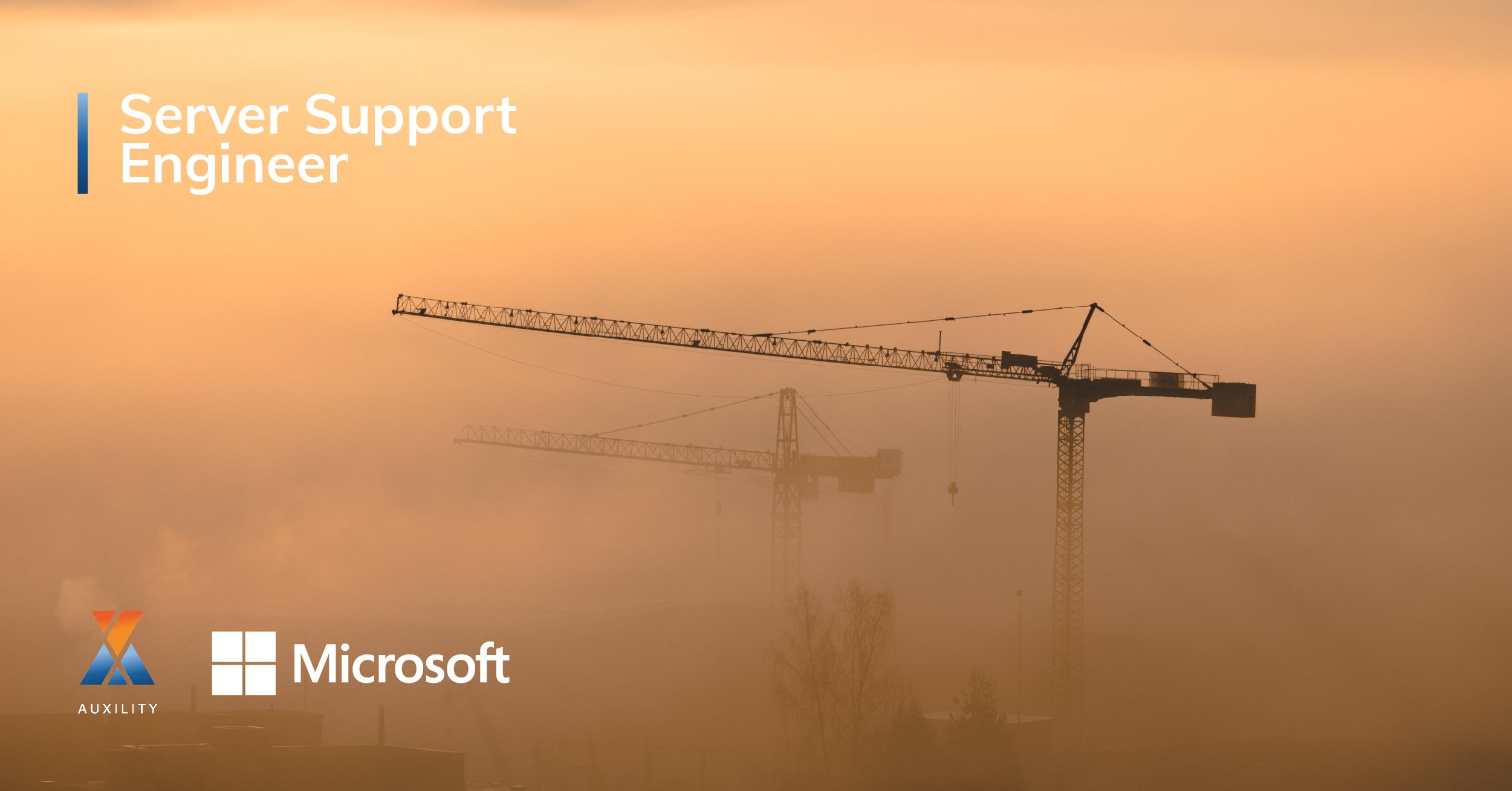Server support engineer job offer